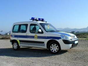 furgoneta policia peugeot partner