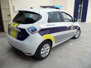Renaul zoe electric police car