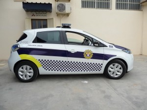 Renaul zoe electric police car